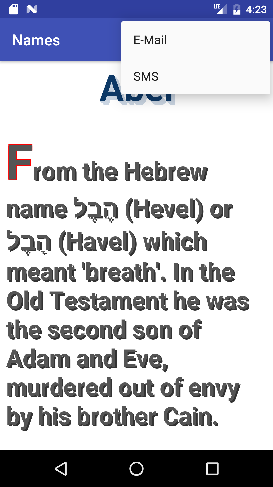 Meaning and origin of the name